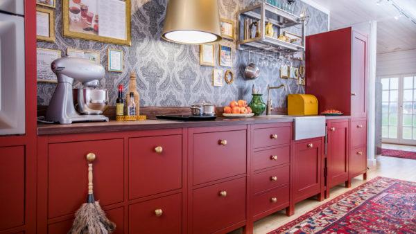 Åraslöv Ströö är ett kök där de olika modulerna inte ör fast monterade i en vägg eller i varandra.
